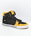 Supra Vaider Black, Gold & White Skate Shoes