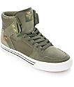 Supra Vaider zapatos de skate en blanco y verde olivo