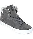 Supra Vaider zapatos de skate en gris y blanco