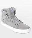 Supra Vaider zapatos grises de lienzo