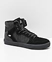 Supra Vaider zapatos skate ante y lienzo negro y gris