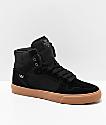 Supra Vaider zapatos skate de lienzo negro y goma