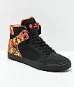 Supra x Rothco Vaider zapatos de skate de camuflaje naranja y negro
