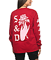 Swallows & Daggers Hand Picked Roses camiseta roja de manga larga