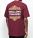 Swallows & Daggers Rose Filigree Maroon T-Shirt