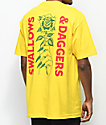 Swallows & Daggers Rose Hand Yellow T-Shirt