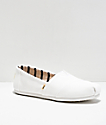 TOMS Classic Alpargata All White Shoes