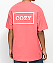 Team Cozy Cozier Box camiseta en coral y blanco