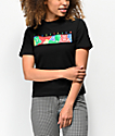 Teddy Fresh Color Bar Black T-Shirt