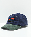 Teddy Fresh Two Teds gorra strapback de pana azul y verde