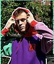 Teddy Fresh sudadera con capucha morada y multicolor