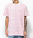 Teenage Always Bored camiseta a rayas rojas y blancas