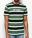 Teenage Bored Black, Green & White Striped T-Shirt