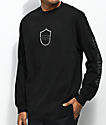 The Come Up Shield Black Long Sleeve T-Shirt