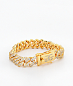 The Gold Gods 12mm Flooded Diamond Cuban Link Bracelet