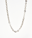 """The Gold Gods 5mm Hermes Link 18"""" White Gold Chain Necklace"""