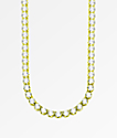 """The Gold Gods 6mm Diamond Tennis 20"""" Gold Chain Necklace"""