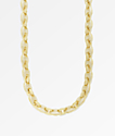 "The Gold Gods 8mm Diamond Puff Link 18"" Gold Chain Necklace"