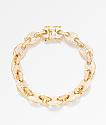 The Gold Gods 8mm Diamond Puff Link Gold Bracelet