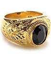 The Gold Gods Aura anillo con ónix
