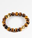 The Gold Gods Buddha Tiger Eye Gemstone Bracelet