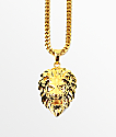 The Gold Gods Micro Lion Pendant Necklace