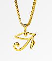 "The Gold Gods collar 28"" Horus Eye"