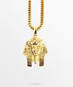 The Gold Gods collar con colgante de faraón micro