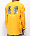 The Hundreds Checkered Flag Yellow Long Sleeve T-Shirt