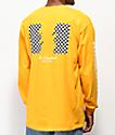 The Hundreds Checkered Flag camiseta amarilla de manga larga