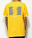 The Hundreds Checkered Flag camiseta dorada