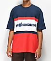 The Hundreds Club camiseta azul marino y roja