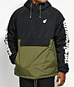 The Hundreds Dell 2 Black & Green Anorak Jacket