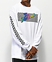 The Hundreds Line Slant White Long Sleeve T-Shirt