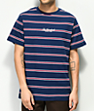 The Hundreds Mazo Navy Stripe T-Shirt