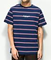The Hundreds Mazo camiseta rayada azul marino