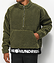 The Hundreds Nepal Olive Half-Zip Sweatshirt