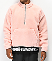 The Hundreds Nepal Pink Half-Zip Sweatshirt