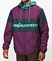 The Hundreds Port Purple & Green Jacket