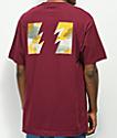 The Hundreds Range camiseta borgoña
