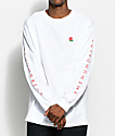 The Hundreds Rose Fill Slant camiseta blanca de manga larga