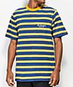 The Hundreds Segundo camiseta azul y dorada de rayas
