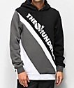 The Hundreds Slope sudadera con capucha negra, gris y blanca