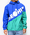 The Hundreds Tilt chaqueta cortavientos azul y verde