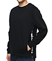 The Hundreds Valley sudadera negra con cuello redondo