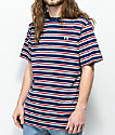 The Hundreds Vince Navy Striped T-Shirt