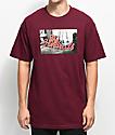 The Hundreds Wearhouse camiseta en color borgoño