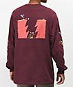 The Hundreds x ACME Burgundy Long Sleeve T-Shirt