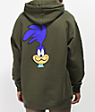 The Hundreds x ACME Runner Army Green Hoodie