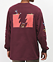 The Hundreds x ACME camiseta de manga larga borgoña